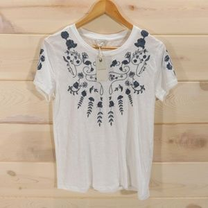 Lucky Brand Women's Embroidered T-shirt
